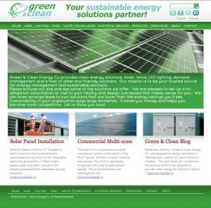 Green & Clean Energy Company WordPress website