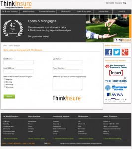 Think Insure responsive website preview